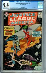 Justice League Of America 31 Cgc 9.4 Rare 1of7 And Highest Graded Hawkman Hawkgirl