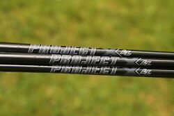New Limited Edition Project X Blackout Shafts 4-pw Lz Or Regular Px Any Flex