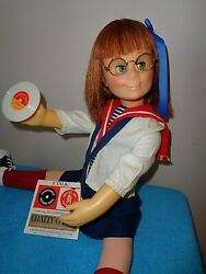 Mattel Hard Face Charmin' Chatty Doll Auburn Orig Sailor Outfit Record And Glasses