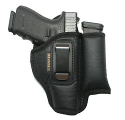Iwb Soft Houston Leather Holster With Magazine/mag Pouch/holder - Choose Model