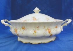 Royal Albert Peach Rose Cover Vegatable Bowl New Never Used Made In England