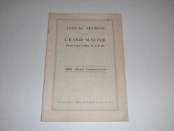 Ohio Grand Lodge Free And Accepted Masons 1957 Annual Address Of The Grand Master