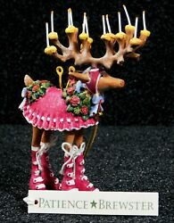 PATIENCE BREWSTER Christmas Ornament Mini Dash Away Donna Reindeer 08 30655 Tag
