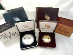 End Of World War Ii 75th Anniversary 24kt Gold And Silver Coins In Boxes   R824