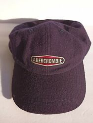 Abercrombie And Fitch Vintage 1990s Baseball Cap Hat Xl Extra Large100 Wool Holes