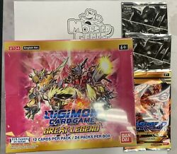 Digimon Great Legend Booster Box + 2 Dash Packs + 1 Great Legend Power-up Pack
