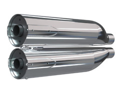 Indian Motorcycle Chrome Stage 1 Slip-on Exhaust For 2022 Super Chief Chief