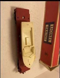 Lionel 6801 Flatcar With Boat - White And Yellow Hull W/ Original Box