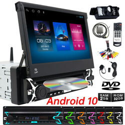 Single 1din 7''android 10 Dvd Carplay Radio Touch Screen Car Stereo Gps Sat Wifi