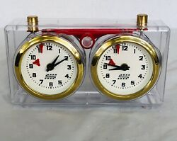 Schachuhr German Mechanical Clear Chess Clock Apfv Rolland Unadjusted