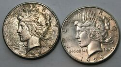 Pair Of 1925 S And 1926 S Peace Dollars