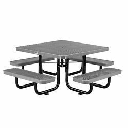46 Child Size Square Expanded Picnic Table, Gray