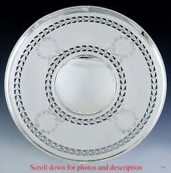 C1920s International Pierced Sterling Silver Compote