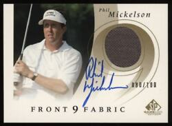 2002 Phil Mickelson Sp Game Used Patch Auto Autograph Rookie Rc 080/100 Nice