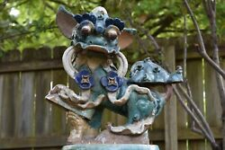 Large Antique Chinese Ceramic / Pottery Roof Tile Fu / Foo Dog Lion, 19th C