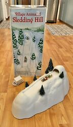 Dept 56 Snow Village Accessories Animated Sledding Hill Complete With Box 52645