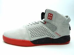 Supra Skytop Iii Grey Red Men Shoes Select Size