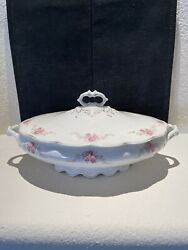 W H Grindley And Co England Conway China Oval Covered Vegetable Discontinued
