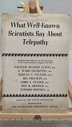 What Well-known Scientists Say About Telepathy - Zenith Foundation 1938 - Radio