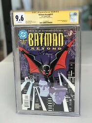 Batman Beyond 1 Cgc Ss 9.6 Signed Bruce Timm 1st Appearance Terry Mcginnis 1999