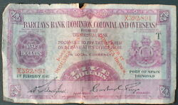 Dominica S102 5 Dollars Barclayand039s Bank