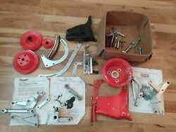 Huge Lot Small Block Chevy Billet Brackets And Pulleys Zoops Summit