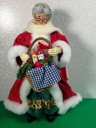 Possible Dreams Clothtique Mrs Claus With Gift Basket 713155 W/ Box