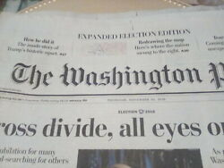 Washington Post Newspaper 11/10/16 Expanded Donald Trump Predidential Election