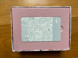 2015 Limited Edition Motherand039s Day Ceramic Etched Starbucks Gift Card Collectible