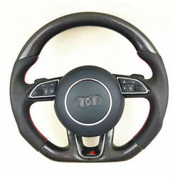 And+ Best Carbon Fiber Leather Steering Wheel For Audi Q5 2010-2018