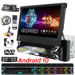 7'' Single 1din Android 10 Car Stereo Dvd Radio Gps Sat Carplay Touch Screen Ccd