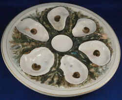 Antique 19thc Union Porcelain Works Upw Round Oyster Porcelain Plate American Us