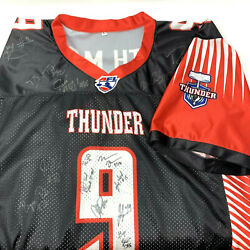 Afl Arena Football League Pdx Portland Thunder 9th Man Jersey Team Signed Large