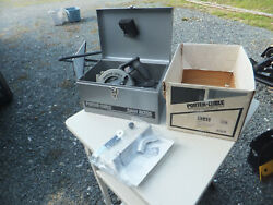 Porter Cable Model 345 Heavy Duty 6 Circular Saw W/ Metal Case And Box - Works