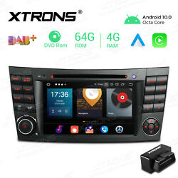 For Mercedes-benz E-w211 7 Android 10 Car Stereo Dvd Gps Radio 8core 4+64g +obd