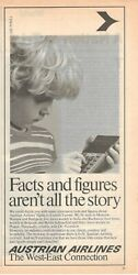 1979 Advertising' Vintage Aua Austrian Airlines Facts And Figures Aren't All