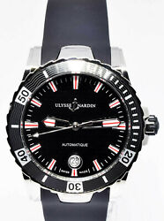 Ulysse Nardin Nos Lady Diver 40mm Steel Automatic Watch Box/papers 8153-180