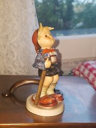 Goebel Hummel Tmk 3 Little Hiker Boy With Stick And Slippers As Is