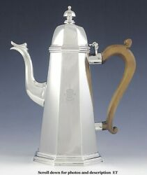 And Co Britannia Sterling Silver 1700s Repro Lighthouse Teapot Coffeepot