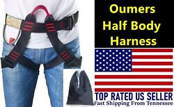 Oumers Half Body Safety Rock Tree Climbing Rappelling Harness Seat Sitting Belt