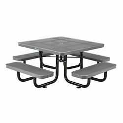 46 Child Size Square Perforated Picnic Table, Gray