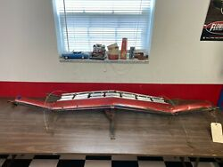 1968 Plymouth Roadrunner Grille Assembly With Bottom Valance And Hood Latch Plate