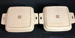 2 Littonware Microwave Cookware Casserole Square Dish 39275 Divided Lid 39274
