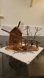 Copper Tin Metal Wind-up Musical Windmill