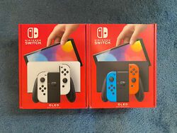 Brand New Nintendo Switch Oled Color White Or Red/blue In Hand Fast Ship