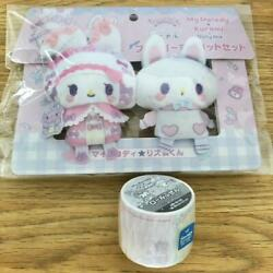 My Melody Dolly Mix Papela Roll Sticky Note Plush Toy Set Sanrio From Japan