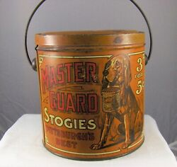 Vintage Advertising Tobacco Tin Master Guard Stogies Empty Container