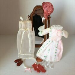 Dollhouse Miniature Clothes Shoes Mirror Gloves Nightgown Dress 112 Scale