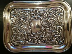 Antique Charles Westwood And Sons Birmingham Sterling Silver Vanity Tray.
