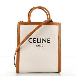 Celine Vertical Cabas Tote Canvas With Leather Small